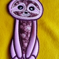 """Sloth"" Fabric Bookmark"