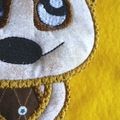 """Meerkat"" Fabric Bookmark"