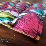 Scented Coffee Coaster & Teaspoon Orange/Coconut/Cloves