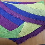 Multi coloured scarf or shawlette
