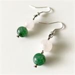 Jade Smoky Quartz Gemstone Earrings