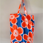 Orange Flower Shopping Tote - Free Postage