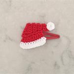 Santa's Hat Crochet Hair Clip for Christmas
