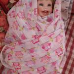 Baby Girl - Set/2 Swaddling Cloths