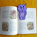 """Dinosaur"" Fabric Bookmark"
