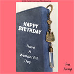 HAPPY BIRTHDAY - HAVE A WONDERFUL DAY - bookmark