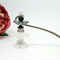 Black Grey Fairy Angel Bookmark Original OOAK  by Top Shelf