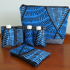Essential Oil Holder, Toiletries Bag and purse set. Cosmetic Pouch. Zip pouch.
