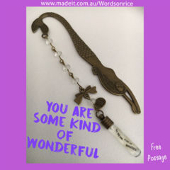 YOU ARE SOME KIND OF WONDERFUL - mermaid bookmark