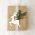 4 Designs. Personalised Gift Tags. Deer, Tree, Angel and Star. Includes names.