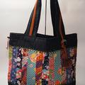 Vintage Kimono Patchwork bag with obijime