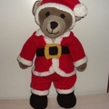 Teddy in his Father Christmas Outfit