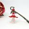 Red Fairy Angel Bookmark Original OOAK  by Top Shelf