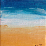 Beach Miniature 3 - Acrylic Painting on Canvas