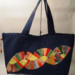 Fan Kimono Patchwork Tote bag