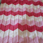 Hand Knitted Baby Blanket - Chevron Design MADE TO ORDER