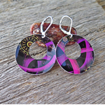 SWIRLS, SUBLIMATION GRAPHIC PRINTED EARRINGS