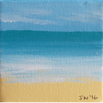Beach Miniature 5 - Acrylic Painting on Canvas