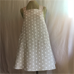 Japanese Wrap Apron, Soft Grey & White Dots, 