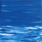 Beach Miniature 8 - Acrylic Painting on Canvas
