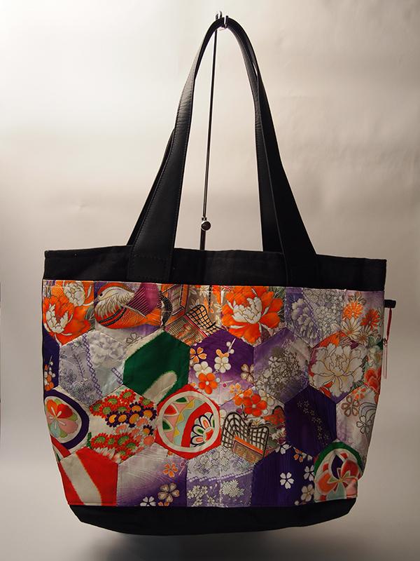 06b07acb3d24 Vintage Kimono Patchwork Tote bag