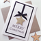 SET OF 6 Merry Christmas gold star ribbon lush friend teacher gold glitter card