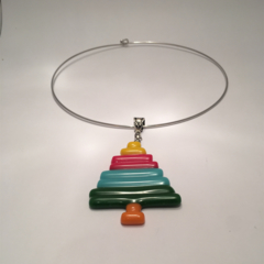 Coloured Crayon Christmas Tree pendant.