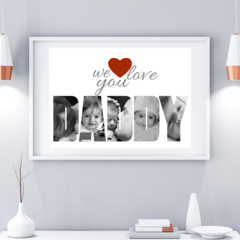 Fathers Day Custom Photo Collage Gift -  A4 - Digital