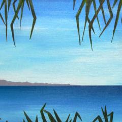 East Coast Ocean - Acrylic Seascape Painting on Canvas