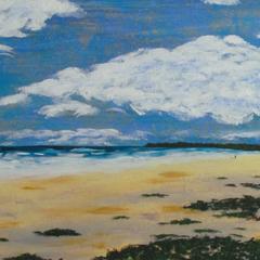 An Evening at Brunswick Heads - Acrylic Beach Painting on Canvas