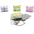 Trio of  lavender sachets: nursery prints in aqua, grey and yellow