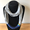 Grey multi-strand double necklace