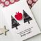 Thank You amazing teacher christmas tree apple script chalkboard card