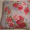 Blue and Fuchsia Floral Cushion