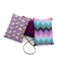 Trio of  lavender sachets: magenta and green