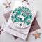 SET OF 6 Christmas Wishes reindeer lush flock paper green friend teacher card