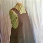 Japanese Wrap Apron, khaki linen medium / size 12/14