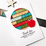 Thank You awesome teacher 2017 ruler apple measure fun bright card