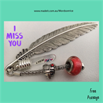 I MISS YOU - bookmark
