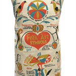 Metro Retro FOLK ART SYMBOLS Kitchen  Apron - Birthday