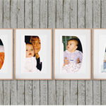 Personalised Baby Name Photo Wall Art, A4, Individual Letters