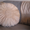 Vintage Look - Natural Raw Silk Cushion with handmade doily - 45cm Round