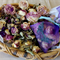 Vintage Look - Organza Sachet with Old English Roses - Scented