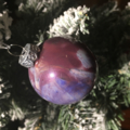 Purple milky way, pattern two, Christmas Bauble