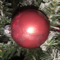 Black, Orange, Red and Gold Christmas Bauble