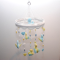 Sweet baby ducklings - blue and yellow mobile