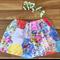Patchwork garden ~ Size 1 girls cotton summer retro twirly style skirt