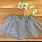 Black gingham ~ Size 1 girls cotton summer retro twirly rockabilly skirt