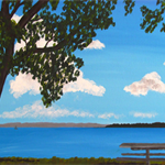 Perfect Picnic Spot - Acrylic Landscape Painting on Canvas