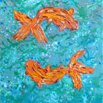 Two Fish - Acrylic Painting on Canvas